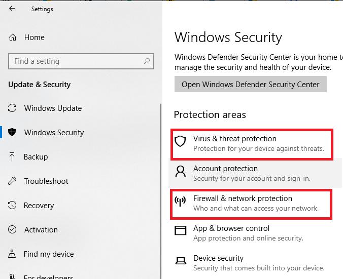 Turn Off Antivirus to Fix Windows Update Error 0x8024002e