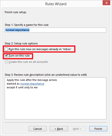 Outlook Rules Do Not Work
