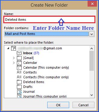 New Folder: Deleted Items