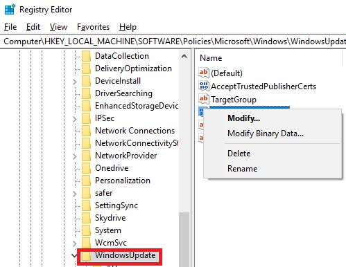 DisableWindowsUpdateAccess