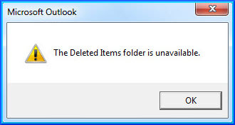 The Deleted Items Folder is Unavailable in Outlook