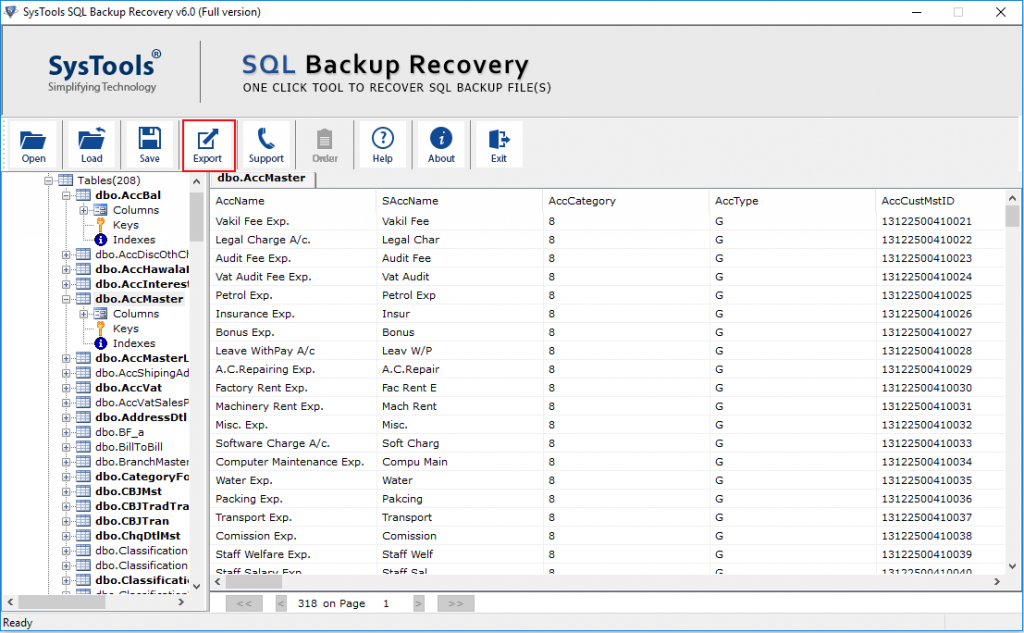 Export BAK File In SQL Server