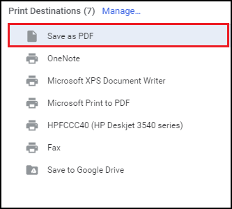 save Gmail email as PDF