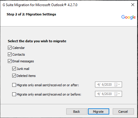migrate Hotmail to gmail