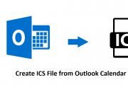 Create ICS File from Outlook Calendar