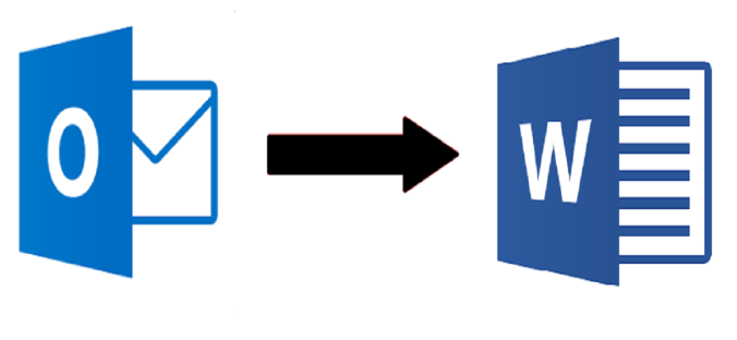 create word document from outlook emails