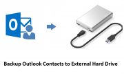 Backup Outlook Contacts to External Hard Drive