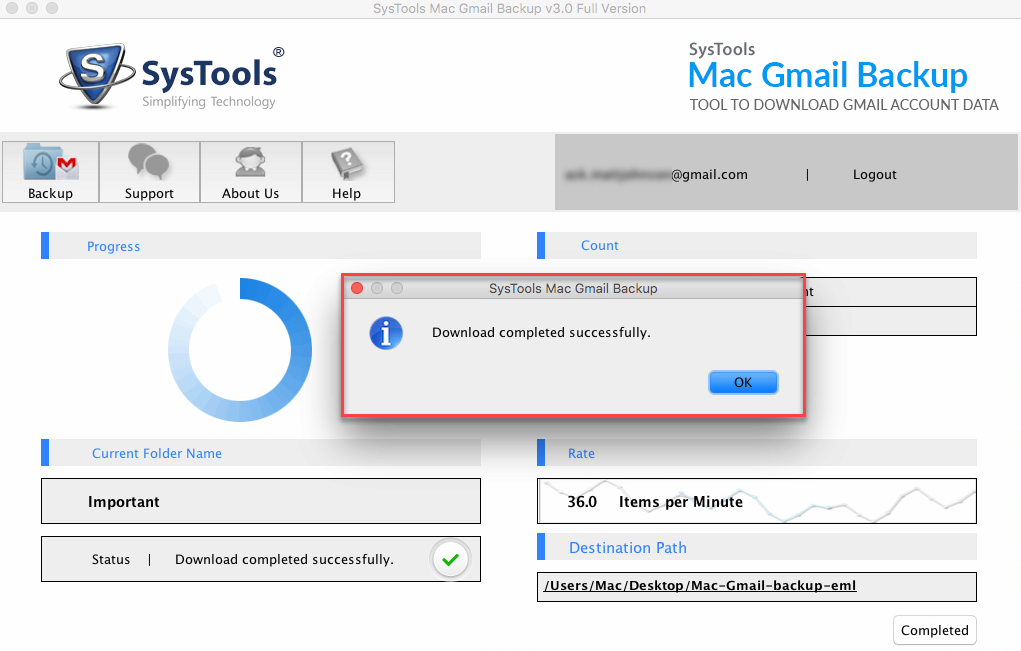 Backup Gmail emails and Attachments complete