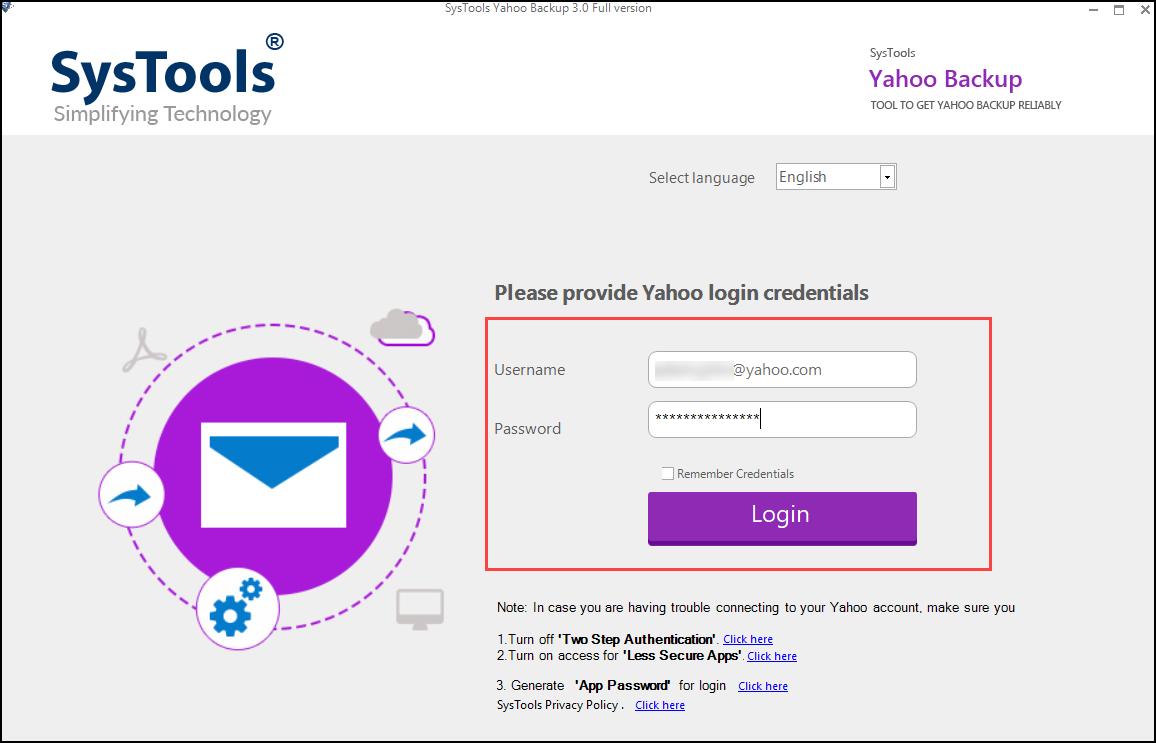 Yahoo mail backup download