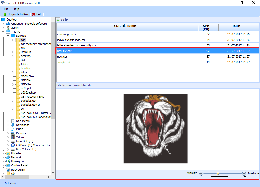 FreeViewer CDR Viewer Tool