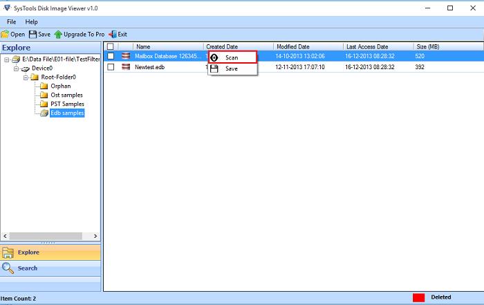 selecting the E01 image File