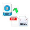 Option to Save EDB in HTML & PDF Formats