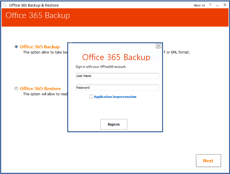 Exchange Online Backup Software