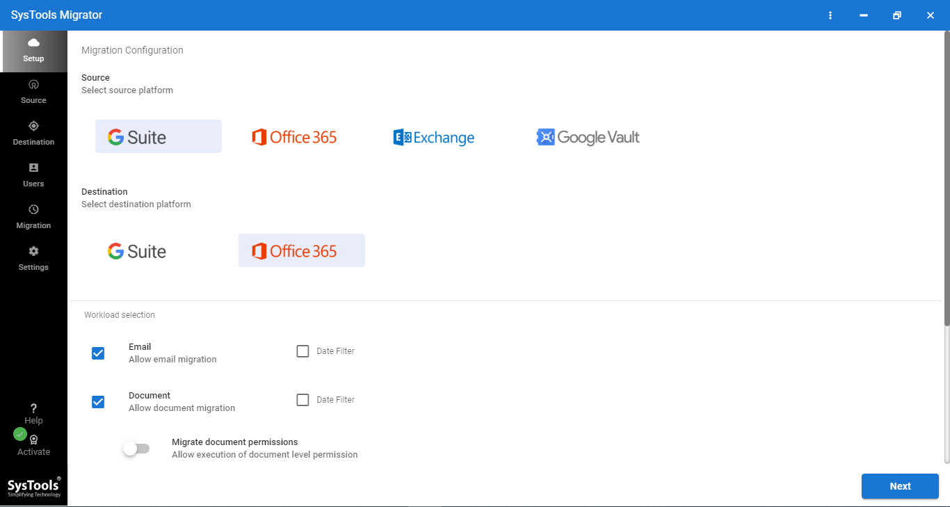 G Suite to O365 Software