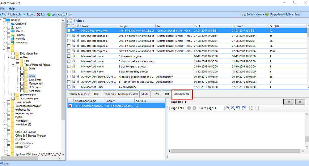 4: Extract Attachments from Multiple EML Files