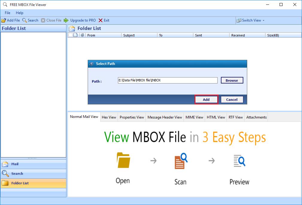 Explore Thunderbird MBOX Files