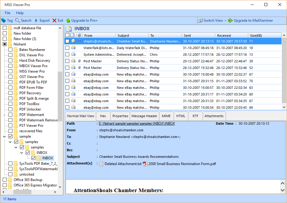2: Extract Attachments From Outlook MSG File
