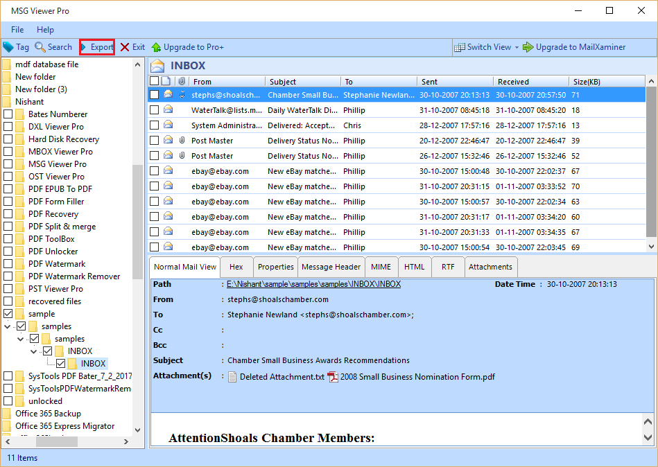 6: Extract Attachments From MSG Files