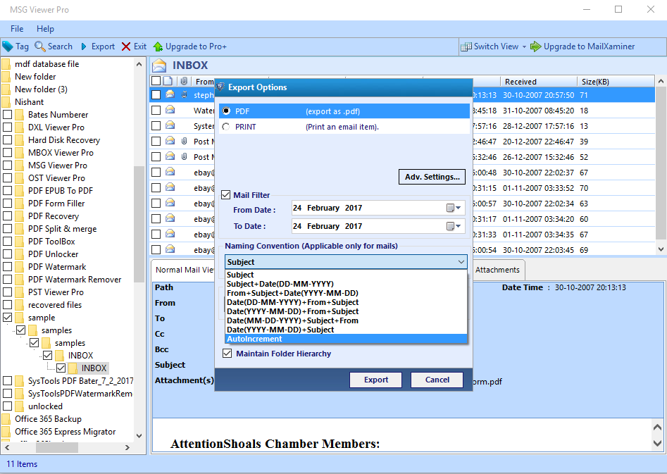 7: Extract Attachments From MSG Files Without Outlook