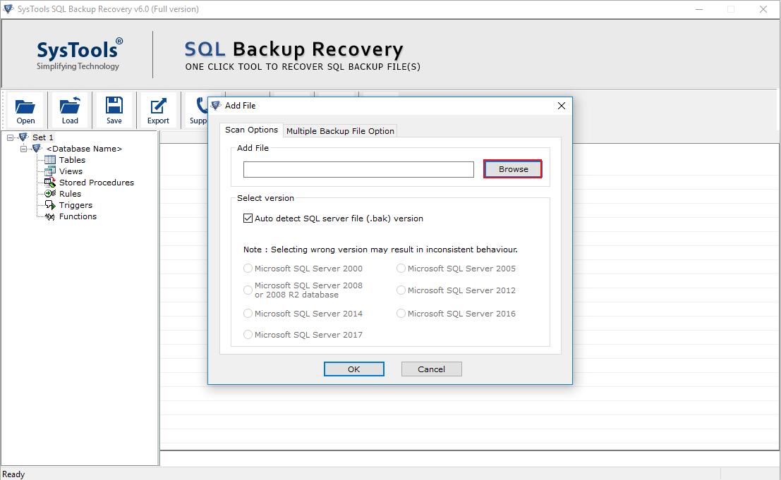 Browse SQL BAK File