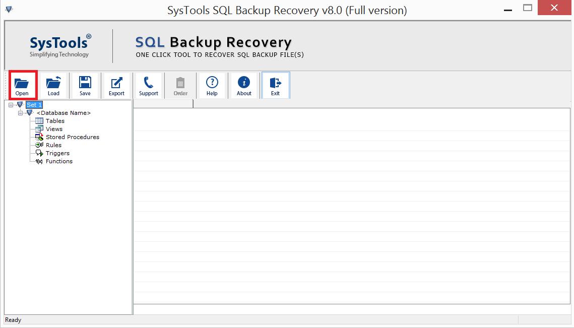 SQL BAK File Repair Tool