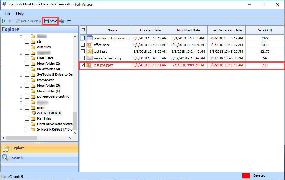 save recovered files