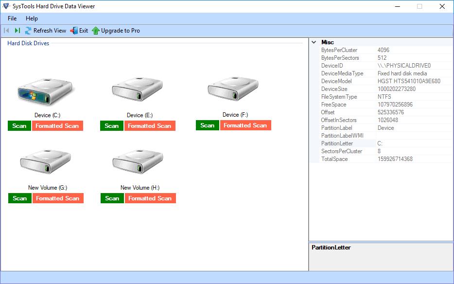 Resultado de imagen para SysTools Hard Drive Data Viewer Pro 9
