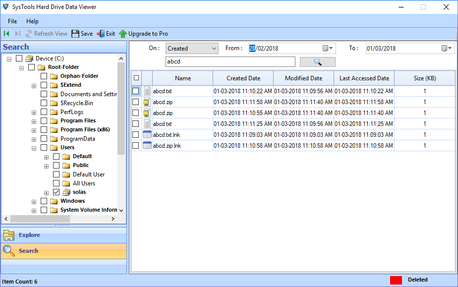 View All Data Files