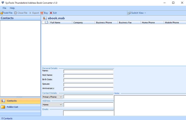 Mab Viewer Free Tool To Open Mab Mozilla Address Book Files