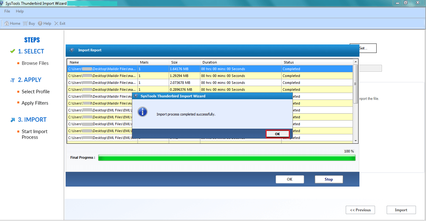 Import MBOX File