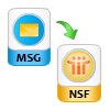 Convert MSG File to NSF