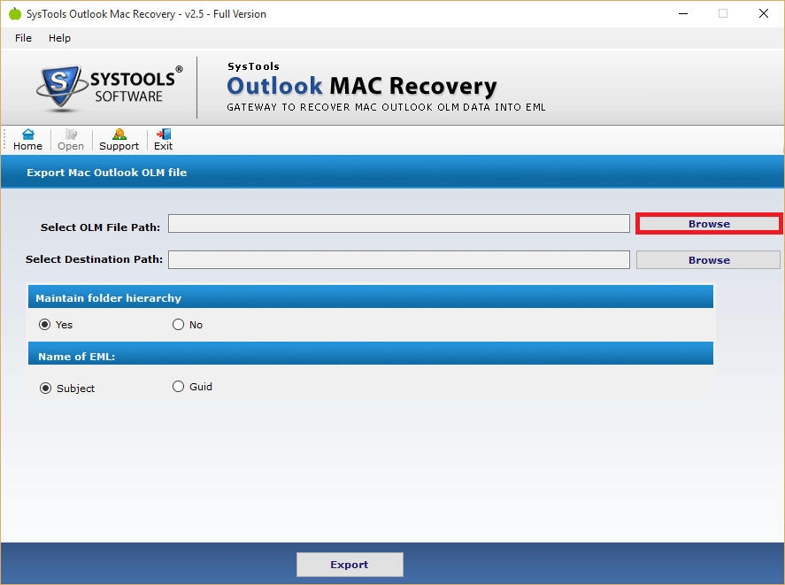 FreeViewer OLM Recovery Tool