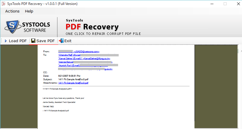 PDF File Repair Software