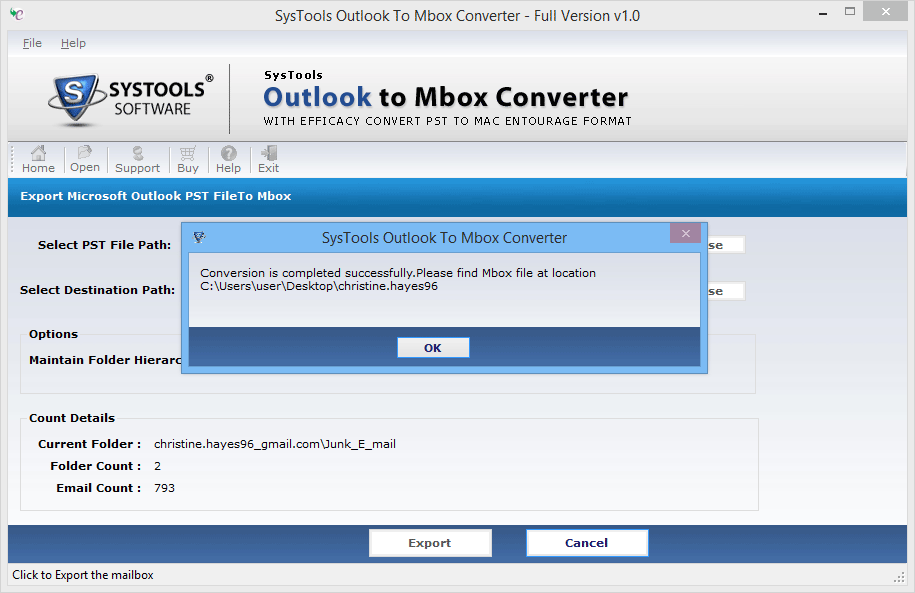 Convert PST to MBOX Format