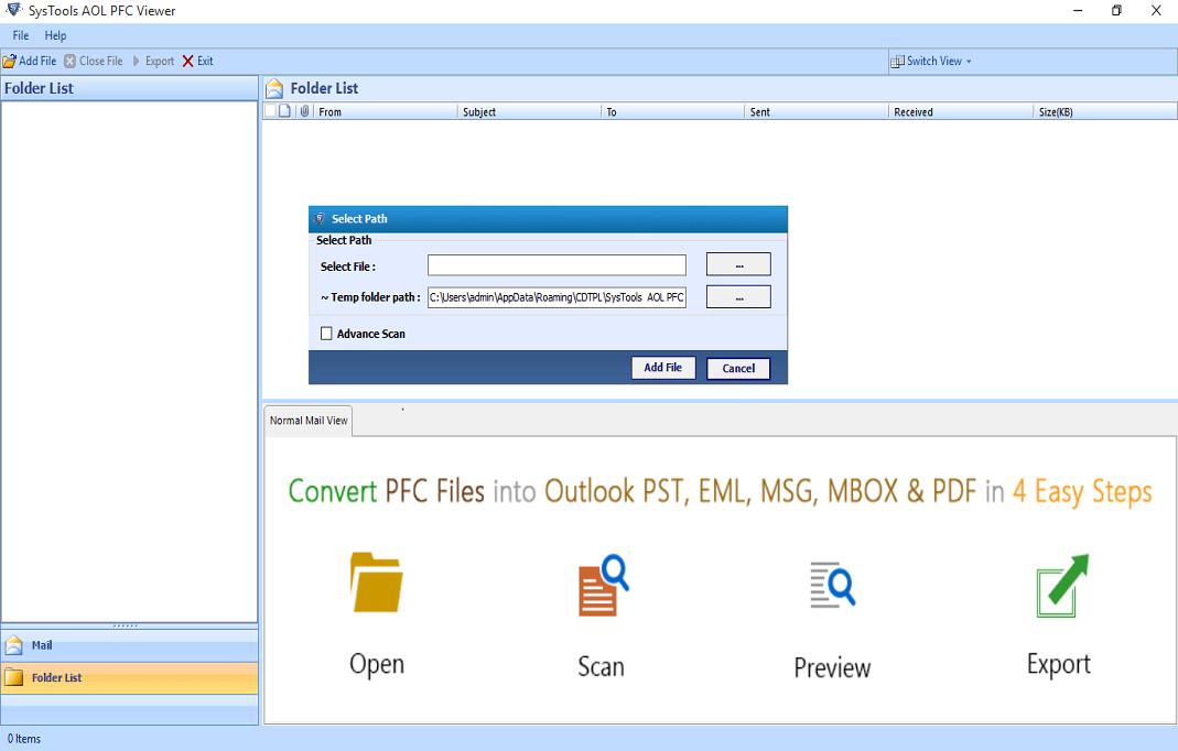 Add PFC File