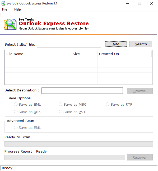 Outlook Express recovery Tool