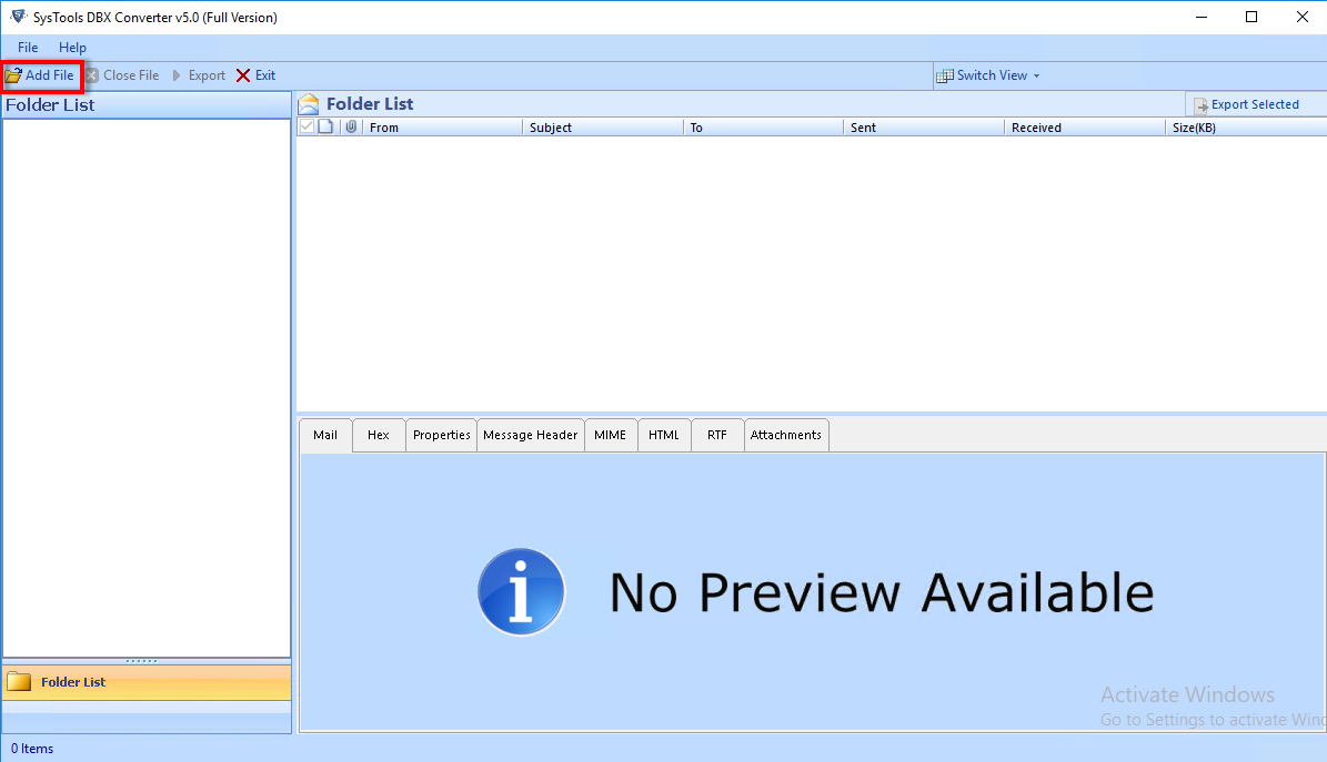 DBX File Viewer Tool