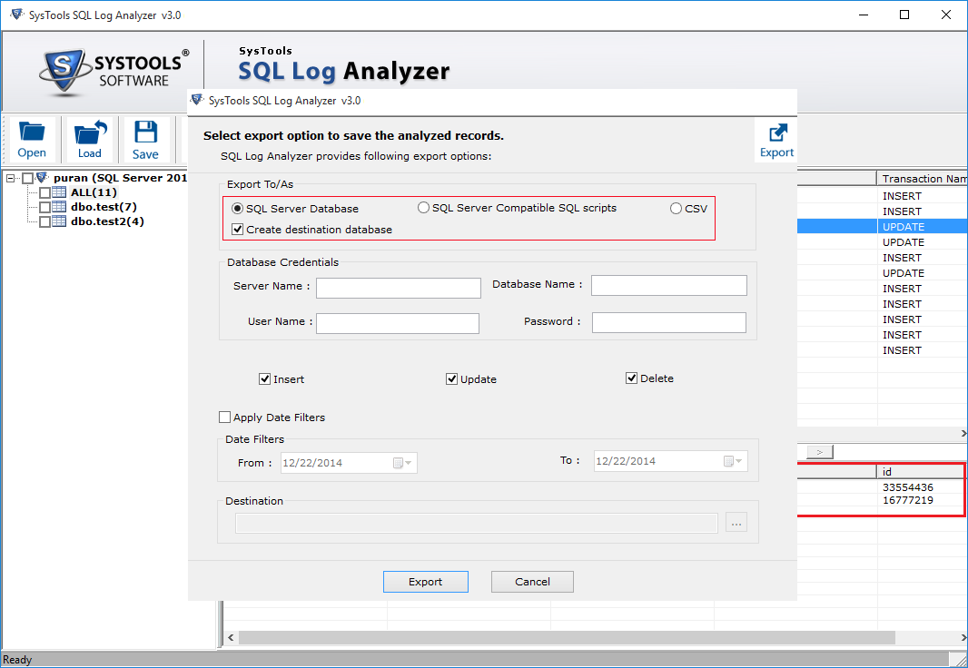 SQL Log Analyzer Software