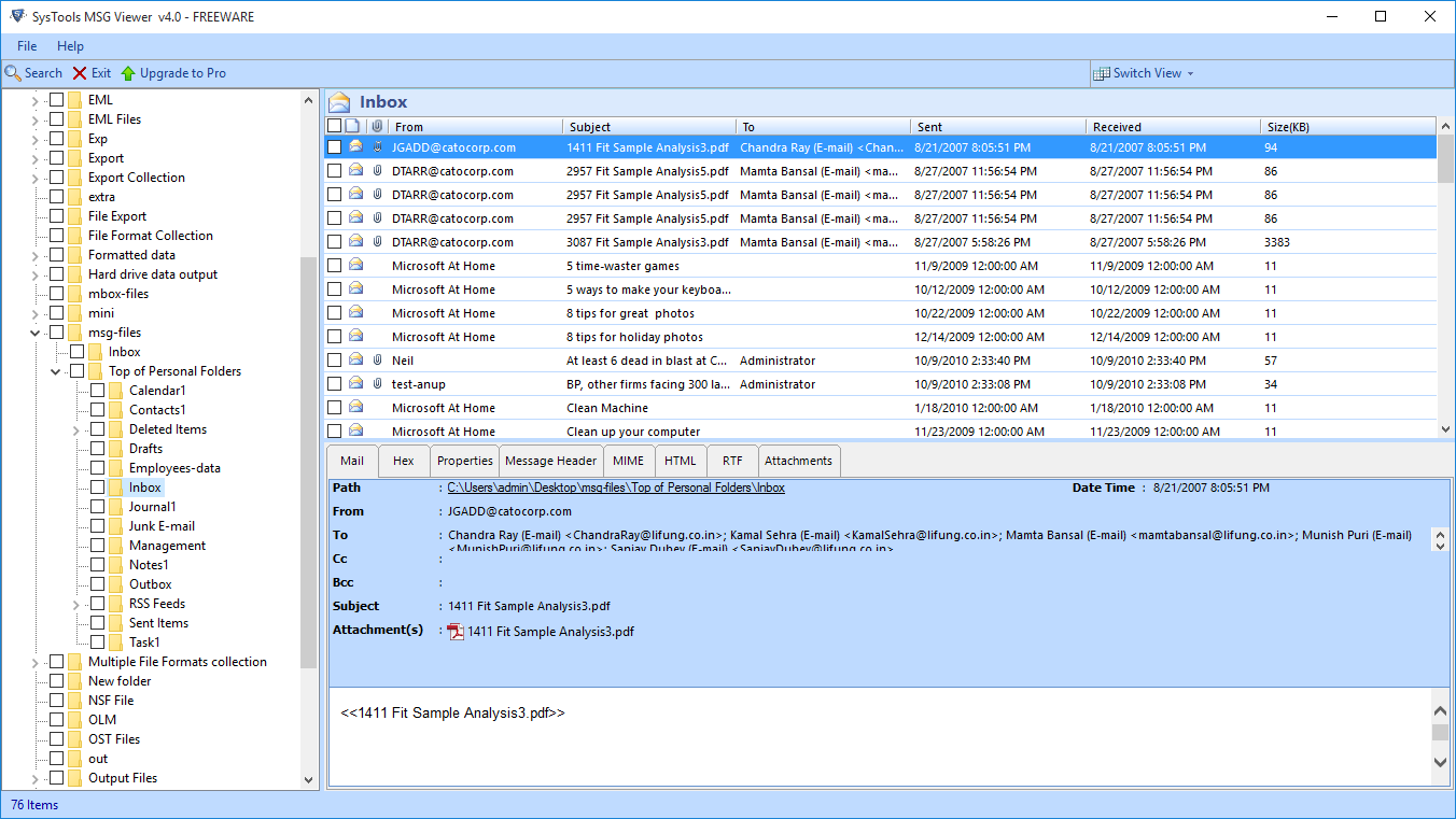 Free Msg File Viewer Download Install Easily Open Msg