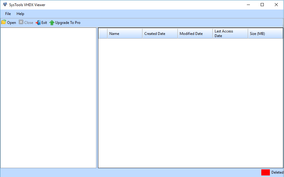 Free VHDX File Viewer