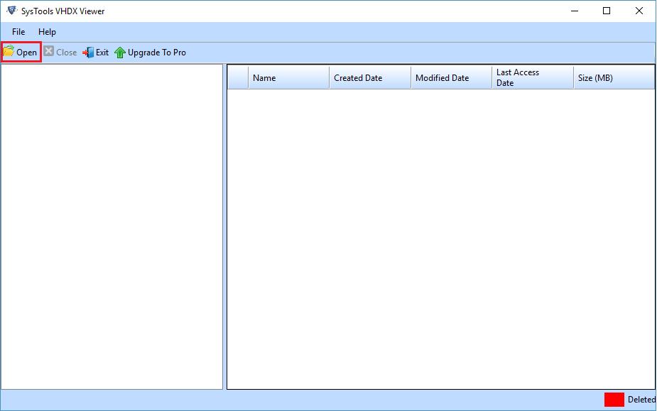 Open VHDX File