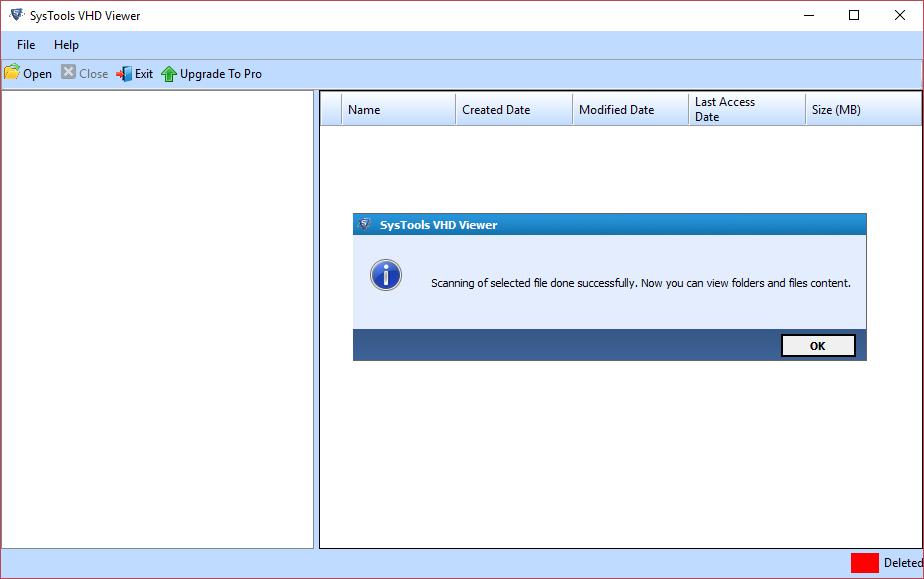 Scan VHD File